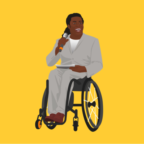 Portrait of Ade Adepitan