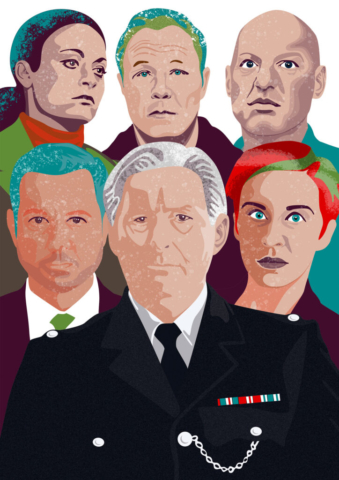 Character portraits from Line of Duty