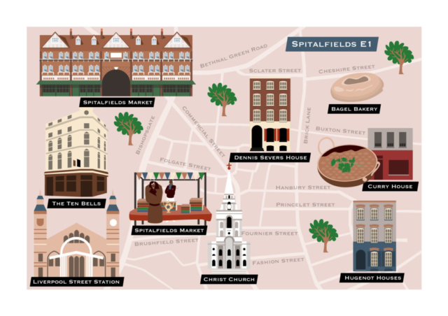 Map of Spitalfields E1