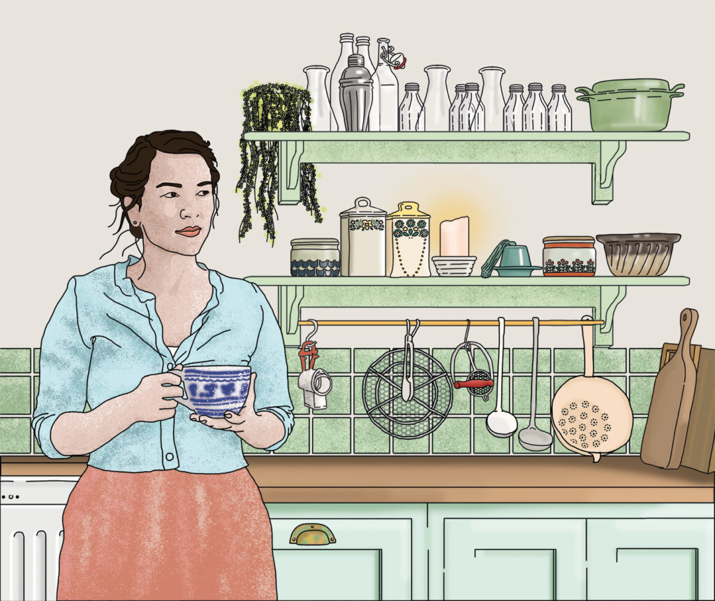 Rachel Khoo, cook, writer and broadcaster illustrated by Claire Huntley