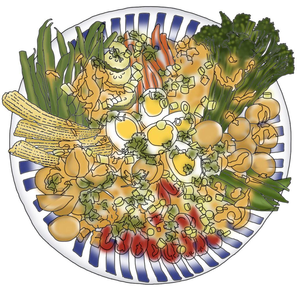 Gado Gado salad from 'A Welsh Mamas Kitchen' blog