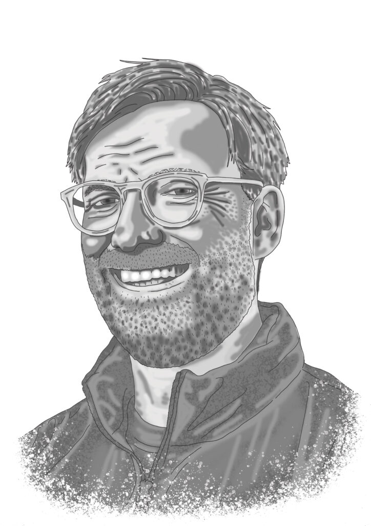 Jürgen Klopp illustrated by Claire Huntley