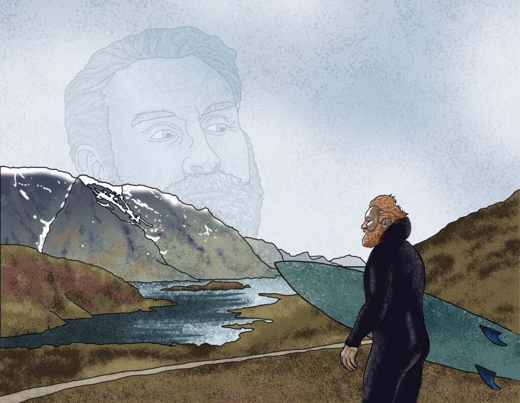 Norwegian thriller 'Twin', featuring Kristofer Hivju illustrated by Claire Huntley