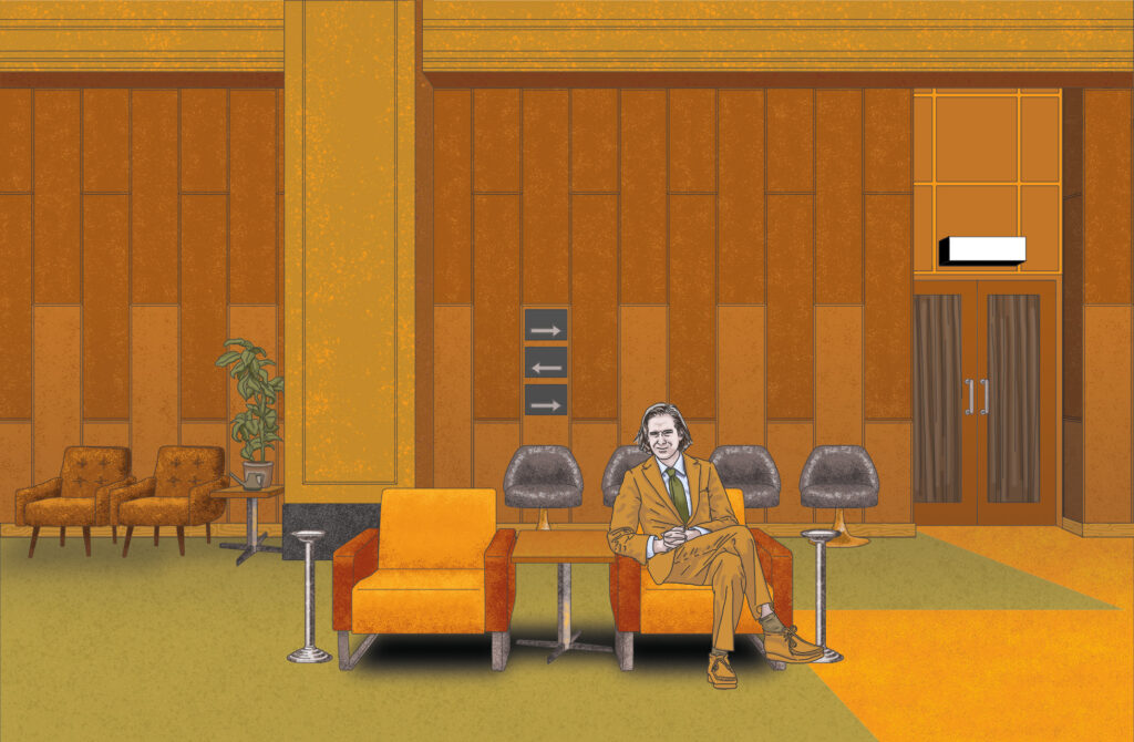 Wes Anderson, Film Director illustrated by Claire Huntley