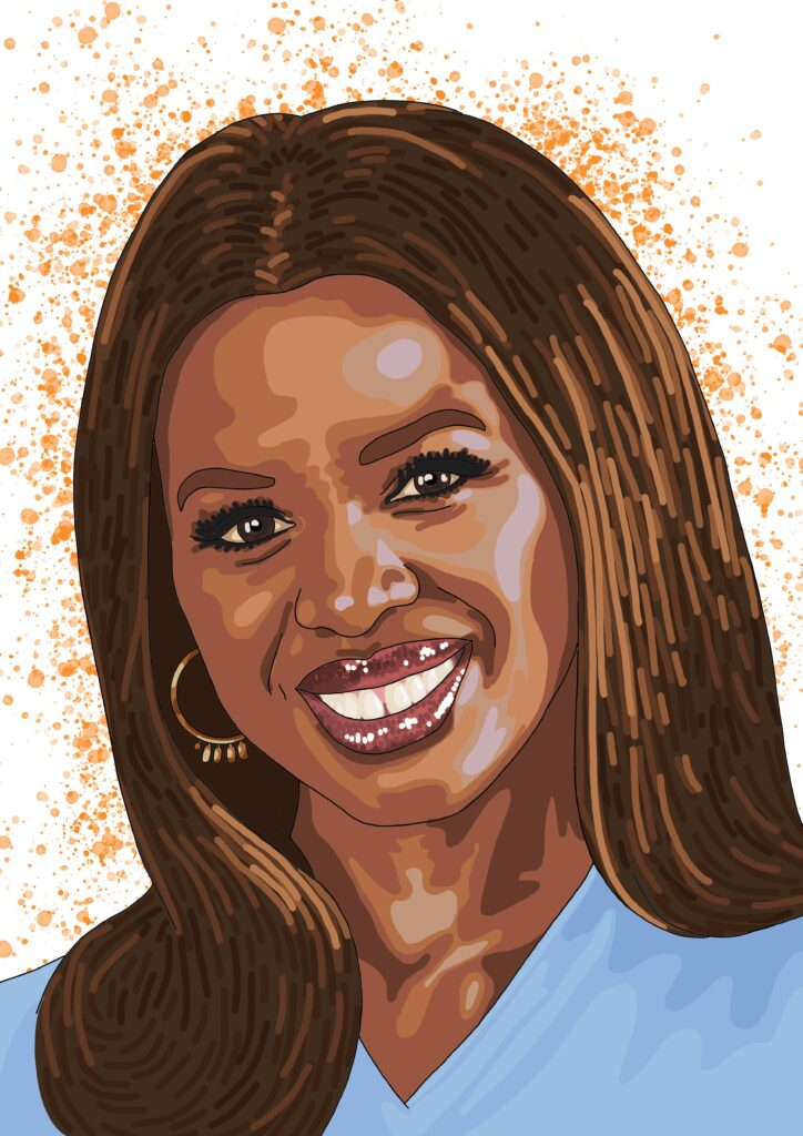 June Sarpong OBE, British television broadcaster, presenter and the BBC's first Director of Creative Diversity