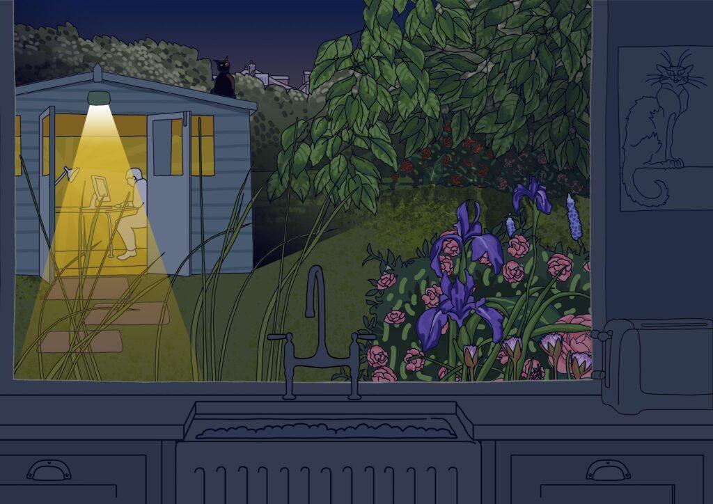 Night shift in the garden