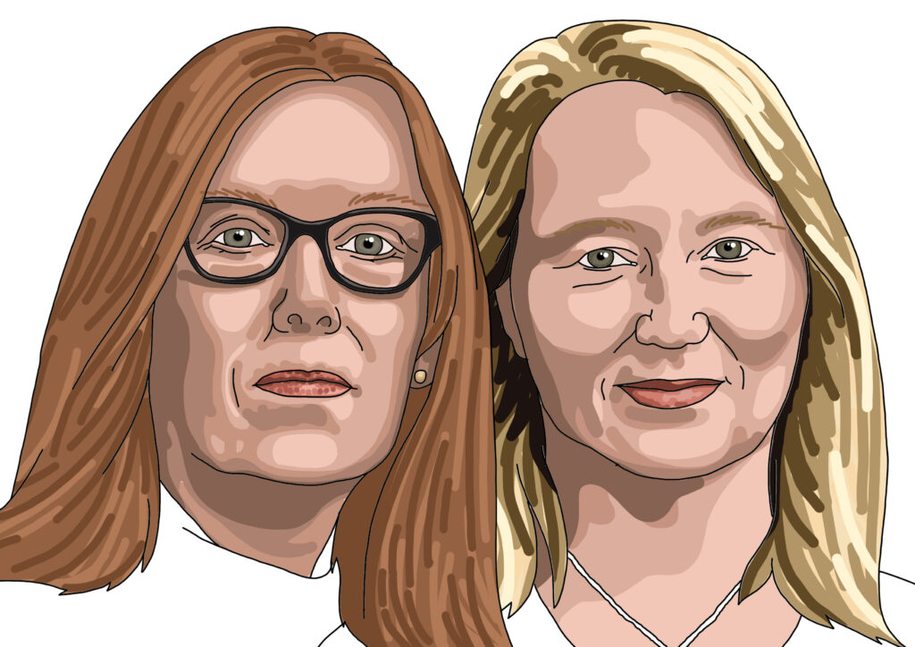 Prof. Sarah Gilbert and Dr. Catherine Green - leading the research behind the Oxford/AstraZeneca vaccine.