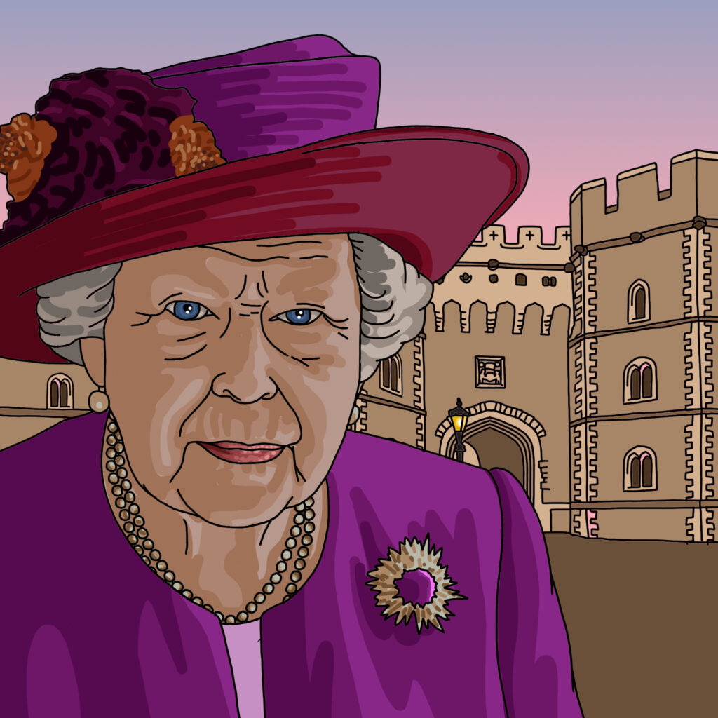 Elizabeth II, Queen of the United Kingdom and 15 other Commonwealth realms since 1952
