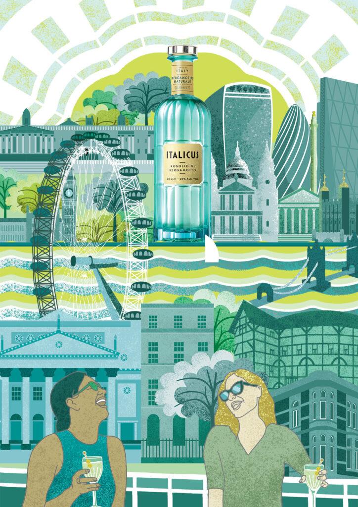 Art of Italicus 2021: Cities Reimagined - my winning entry 'London via Italicus'